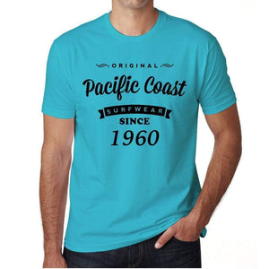 1960, Pacific Coast, Blue, Men's Short Sleeve Round Neck T-shirt 00104 ultrabasic-com.myshopify.com