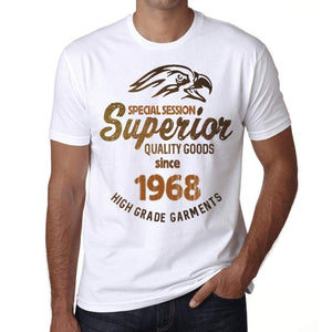 1968, Special Session Superior Since 1968 Mens T-shirt White Birthday Gift 00522 - ultrabasic-com