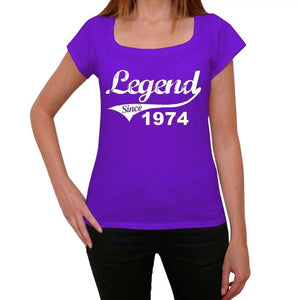 1974, Legend Since Womens T shirt Purple Birthday Gift 00131 - ultrabasic-com