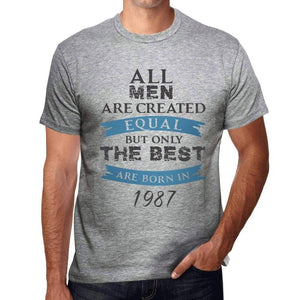 1987, Only the Best are Born in 1987 Men's T-shirt Grey Birthday Gift 00512 - ultrabasic-com