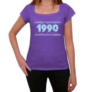 '1990 Limited Edition Star Women's T-shirt, Purple, Birthday Gift 00385 - Ultrabasic