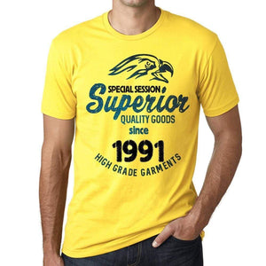 1991 Special Session Superior Since 1991 Mens T-Shirt Yellow Birthday Gift 00526 - Yellow / Xs - Casual