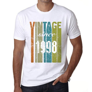 1998 Vintage Since 1998 Mens T-Shirt White Birthday Gift 00503 - White / X-Small - Casual