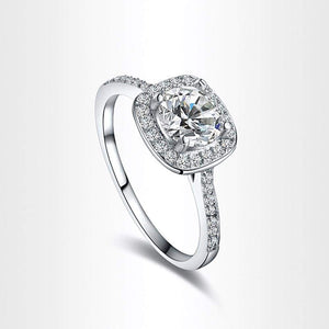 1PC Princess Square Diamond Ring Luxury Elegance Fashion Wedding Ring - Ultrabasic
