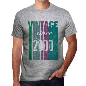2000 Vintage Since 2000 Mens T-Shirt Grey Birthday Gift 00504 00504 - Grey / S - Casual