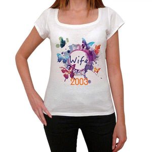 2003 Womens Short Sleeve Round Neck T-Shirt 00142 - Casual