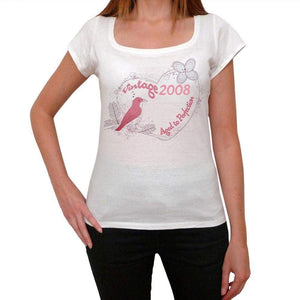 2008 Womens Short Sleeve Round Neck T-Shirt 00143 - Casual
