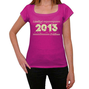 2013 Limited Edition Star Womens T-Shirt Pink Birthday Gift 00384 - Pink / Xs - Casual