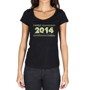 2014 Limited Edition Star Womens T-Shirt Black Birthday Gift 00383 - Black / Xs - Casual