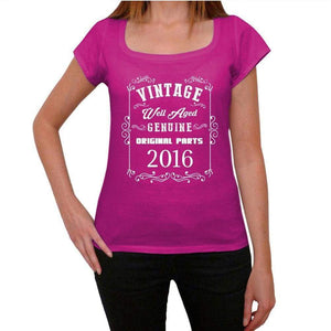 2016 Well Aged Pink Womens Short Sleeve Round Neck T-Shirt 00109 - Pink / Xs - Casual