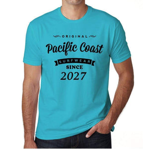 2027 Pacific Coast Blue Mens Short Sleeve Round Neck T-Shirt 00104 - Blue / S - Casual
