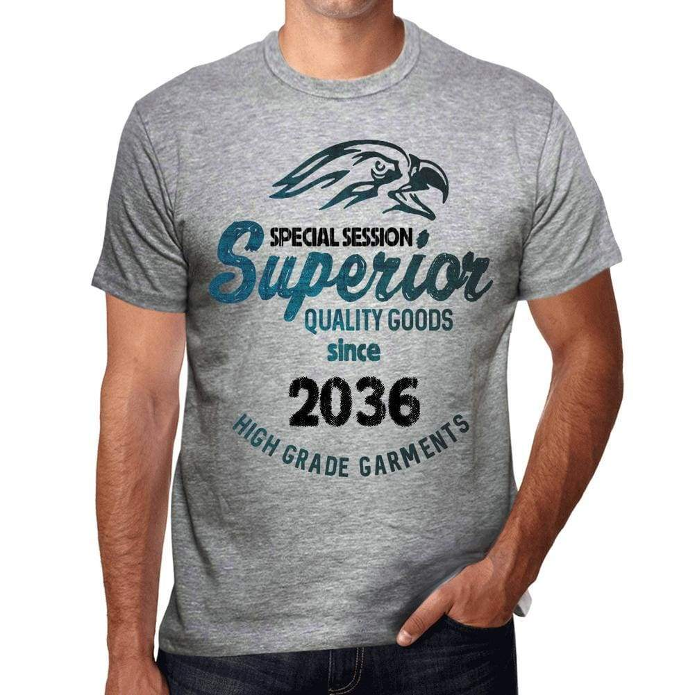 2036 Special Session Superior Since 2036 Mens T-Shirt Grey Birthday Gift 00525 - Grey / S - Casual