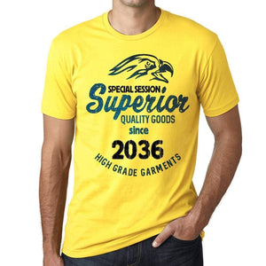 2036 Special Session Superior Since 2036 Mens T-Shirt Yellow Birthday Gift 00526 - Yellow / Xs - Casual