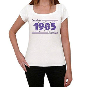 1985 Limited Edition Star, <span>Women's</span> T-shirt, <span>White</span>, <span>Birthday</span> <span>Gift</span> 00382