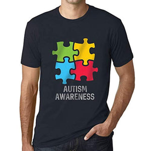 Ultrabasic Men's Graphic T-Shirt Autism Awareness Navy