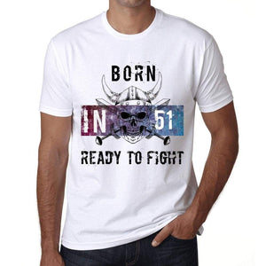 51 Ready To Fight Mens T-Shirt White Birthday Gift 00387 - White / Xs - Casual