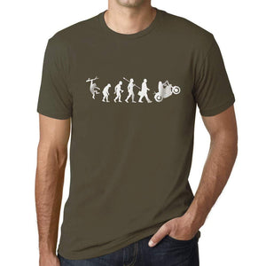 Ultrabasic - Homme T-Shirt Graphique Evolution Moto Army