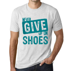 Ultrabasic Homme T-Shirt Graphique Never Give Up on Shoes Blanc Chiné