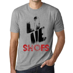 Ultrabasic - Homme T-Shirt Graphique Love Shoes Gris Chiné