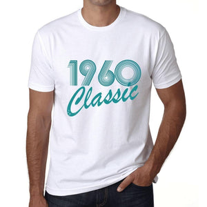 Ultrabasic - Homme T-Shirt Graphique Years Lines Classic 1960 Blanc