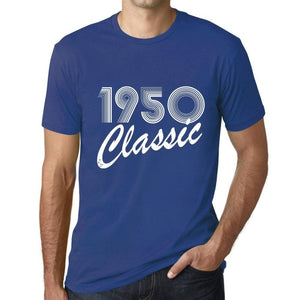 Ultrabasic - Homme T-Shirt Graphique Years Lines Classic 1950 Royal