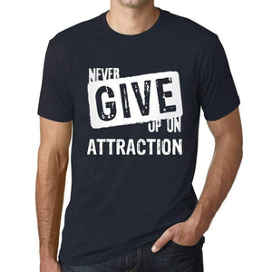 Ultrabasic Homme T-Shirt Graphique Never Give Up on Attraction Marine