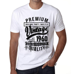 Ultrabasic - Homme T-Shirt Graphique 1960 Aged to Perfection Tee Shirt Cadeau d'anniversaire