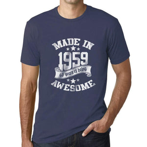 Ultrabasic - Homme T-Shirt Graphique Made in 1959 Awesome 60ème Anniversaire Denim