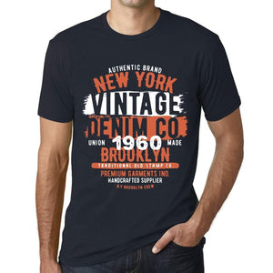 Men's <span>Graphic</span> T-Shirt Vintage Denim Since 1960 Navy - ULTRABASIC