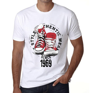 Men's Vintage Tee Shirt Graphic T shirt Authentic Style Since 1969 White - Ultrabasic