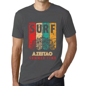 Men's Graphic T-Shirt Surf Summer Time AZEITAO Mouse Grey - Ultrabasic