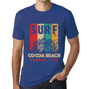 Men's Graphic T-Shirt Surf Summer Time COCOA BEACH Royal Blue - Ultrabasic