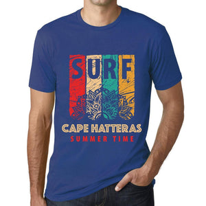 Men's Graphic T-Shirt Surf Summer Time CAPE HATTERAS Royal Blue - Ultrabasic