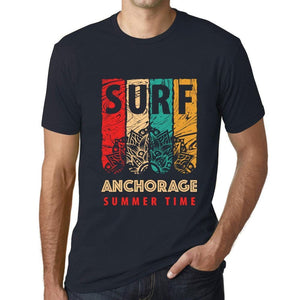 Men's Graphic T-Shirt Surf Summer Time ANCHORAGE Navy - Ultrabasic