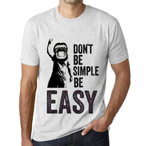 Men's Graphic T-Shirt Don't Be Simple Be EASY Vintage White - Ultrabasic