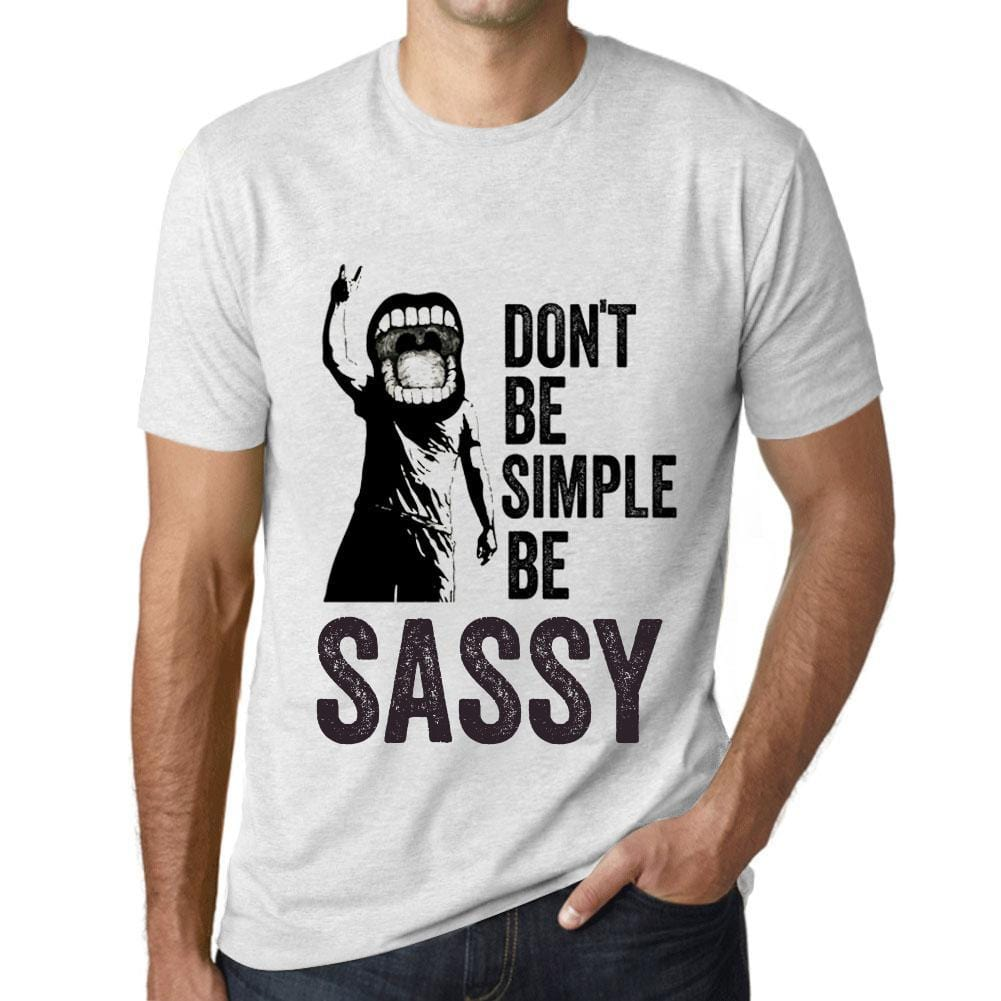 Men's Graphic T-Shirt Don't Be Simple Be SASSY Vintage White - Ultrabasic