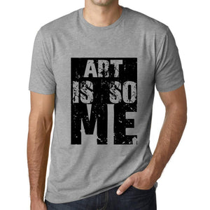 Men's Graphic T-Shirt ART Is So Me Grey Marl - Ultrabasic