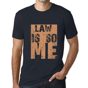 Men's Graphic T-Shirt LAW Is So Me Navy - Ultrabasic