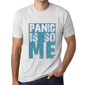 Men's Graphic T-Shirt PANIC Is So Me Vintage White - Ultrabasic