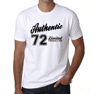 71 Authentic White Mens Short Sleeve Round Neck T-Shirt 00123 - White / S - Casual