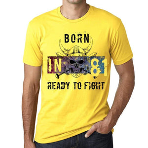81 Ready To Fight Mens T-Shirt Yellow Birthday Gift 00391 - Yellow / Xs - Casual