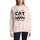 ULTRABASIC Women's Sweatshirt Cat Make Me Happy, You Not so Much - Kitten Funny Slogan Sweater