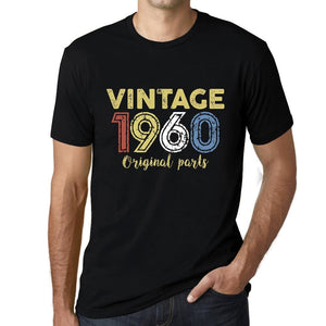ULTRABASIC - Graphic Printed Men's Vintage 1960 T-Shirt Deep Black - Ultrabasic