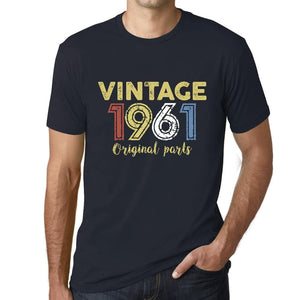 ULTRABASIC - Graphic Printed Men's Vintage 1961 T-Shirt Navy - Ultrabasic