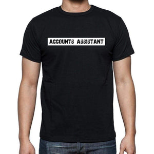 Accounts Assistant T Shirt Mens T-Shirt Occupation S Size Black Cotton - T-Shirt