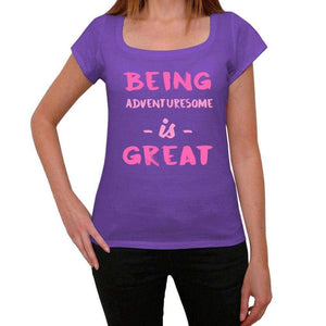 Adventuresome Being Great Purple Womens Short Sleeve Round Neck T-Shirt Gift T-Shirt 00336 - Purple / Xs - Casual