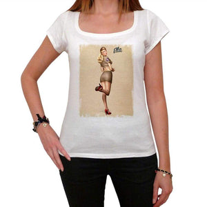 Air Force Pin Up White Womens T-Shirt 100% Cotton 00212