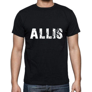Allis Mens Short Sleeve Round Neck T-Shirt 5 Letters Black Word 00006 - Casual