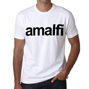 Amalfi Tourist Attraction Mens Short Sleeve Round Neck T-Shirt 00071