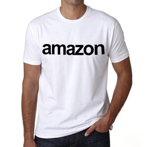 Amazon Tourist Attraction Mens Short Sleeve Round Neck T-Shirt 00071